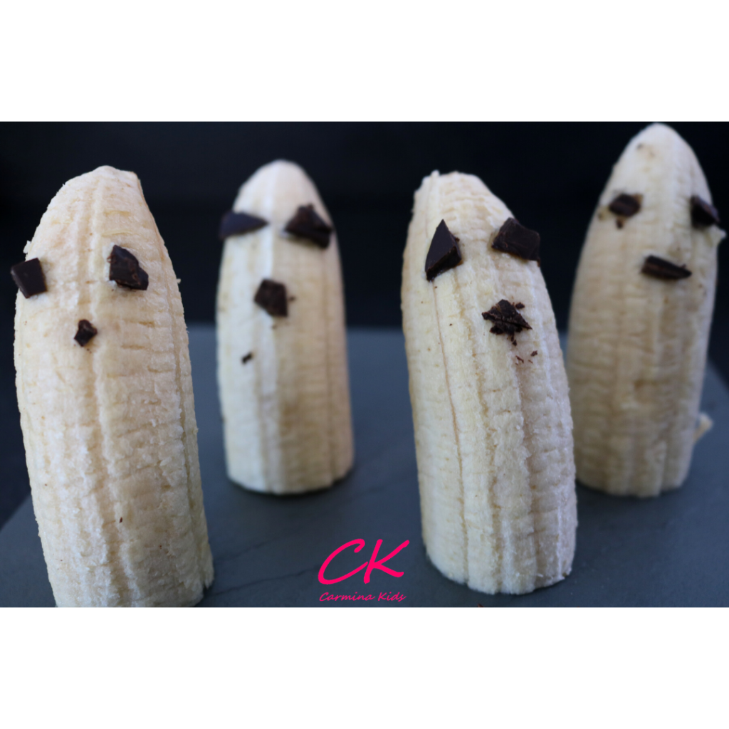 Fantasmas de plátano | Catering saludable en Halloween