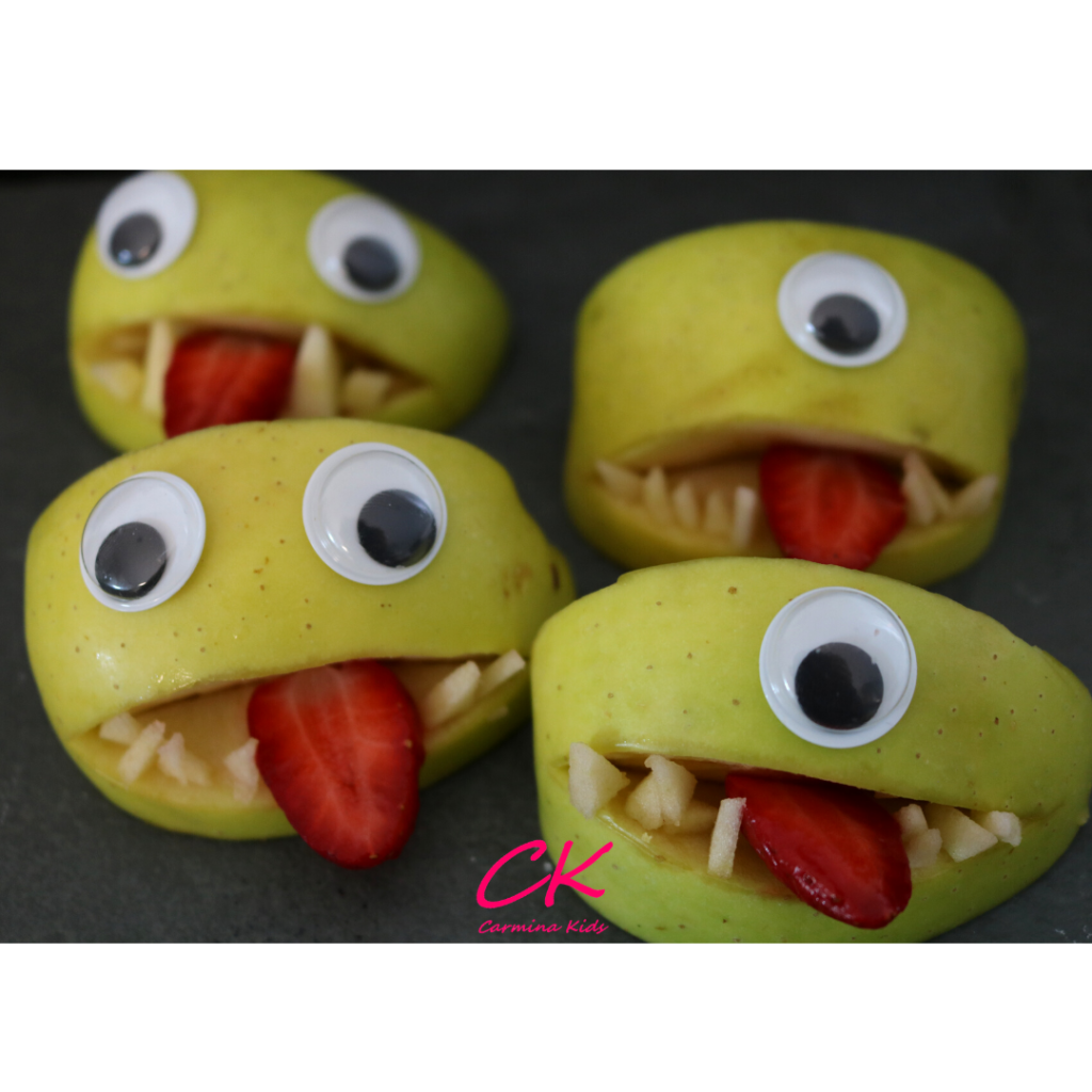 Monstruos de manzana | Catering saludable en Halloween